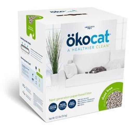 Okocat Dust Free Non Clumping Paper Pellet Cat Litter, 12.3lb