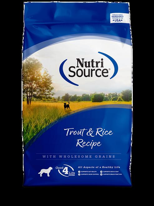 NutriSource Trout & Rice Formula