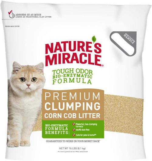 Natures Miracle Premium Clumping Corn Cob Litter, 18#