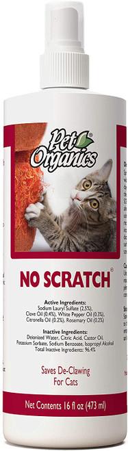 NaturVet Pet Organics No Scratch Spray, 16oz