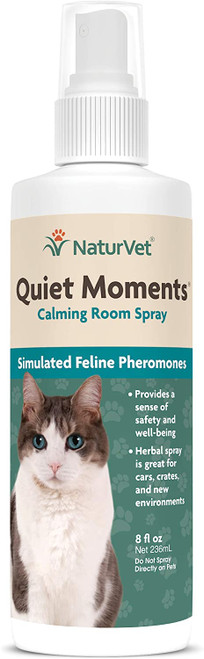 NaturVet Quiet Moments Cat Calming Room Spray, 8oz