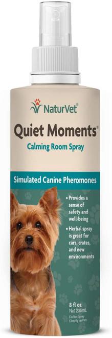NaturVet Quiet Moments Dog Calming Room Spray, 8oz