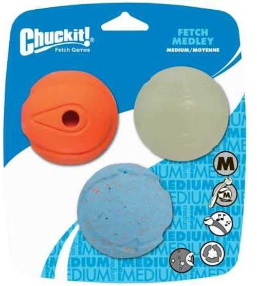 Chuckit! Fetch Medley Fetch Balls, 3PK