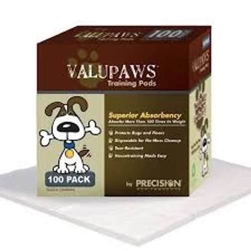 Precision Pet ValuPaws Training Pads, 100ct