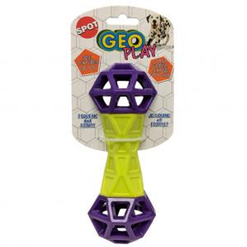 Ethical Pet Geo Play Duel Texture Dumbbell