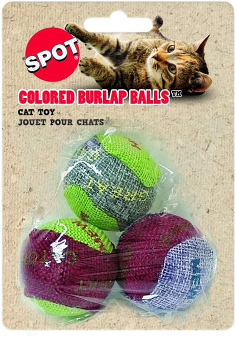 Ethical Pet Burlap Cat Balls, 3pc