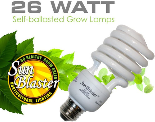 SunBlaster CFL 26 Watt Grow Lamp 1 Pack