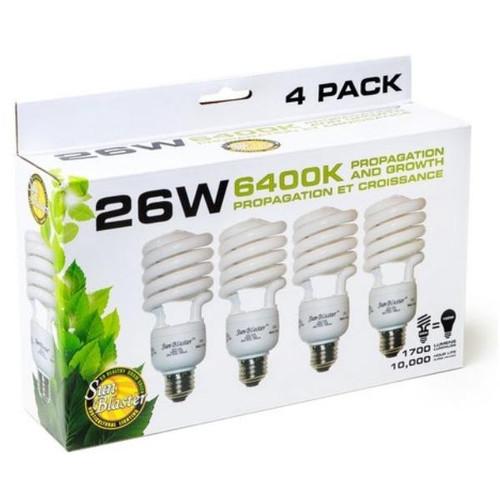 SunBlaster 26W CFL 6400K 4 Pack