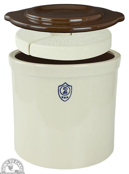 Down To Earth Fermentation Crock Kit, 2 Gallon