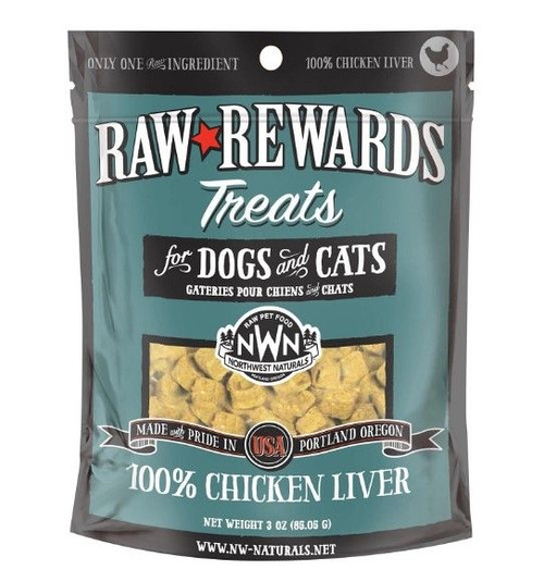 Northwest Naturals Raw Freeze-Dried Chicken Liver Treats, 3oz
