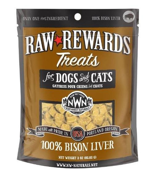 Northwest Naturals Raw Freeze-Dried Bison Liver Treats, 3oz