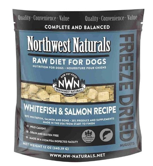 Northwest Naturals Raw Freeze-Dried White Fish/Salmon Nuggets, 12oz