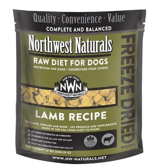 Northwest Naturals Raw Freeze-Dried Lamb Nuggets, 12oz