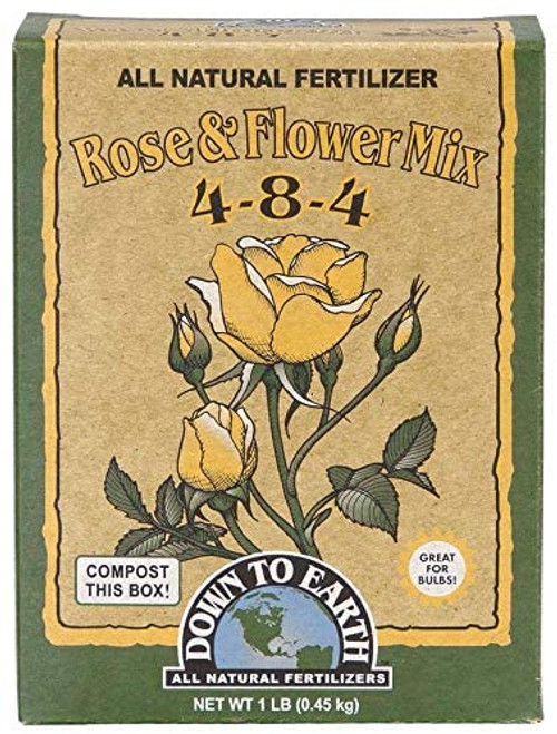 Down to Earth All Natural Rose & Flower Bulb Fertilizer Mix 4-8-4