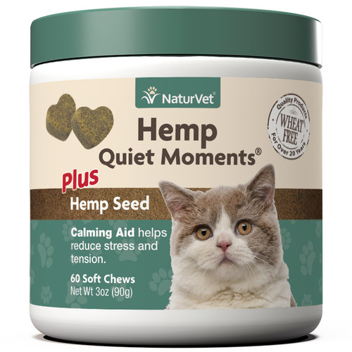 NaturVet Hemp Quiet Moments Cat Soft Chew, 60ct