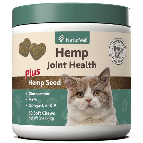 NaturVet Hemp Joint Health Cat Soft Chews, 60ct