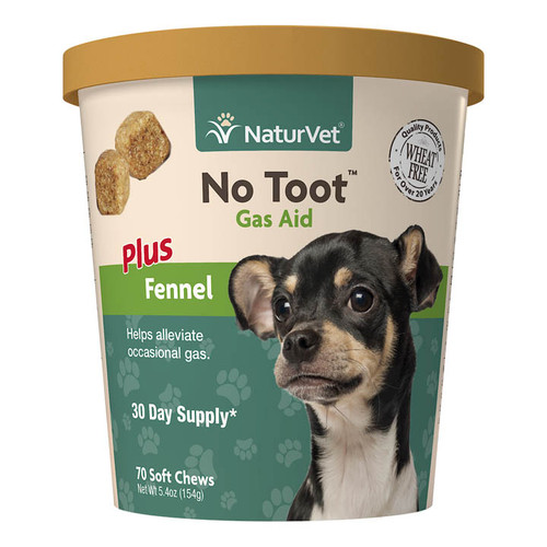 NaturVet No Toot Gas Aid Soft Chew, 70ct