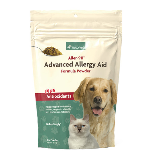 NaturVet Aller-911 Advanced Allergy Aid Formula Powder, 9oz