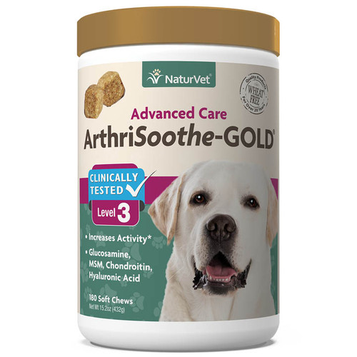 NaturVet ArthriSoothe Gold Advanced Care Soft Chews, 180ct