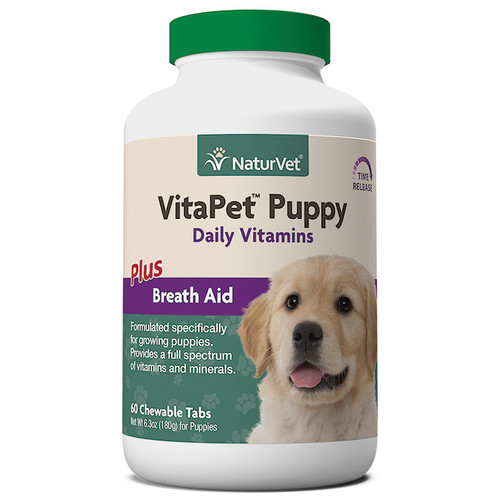 NaturVet Vita Pet Puppy + Breath Aid, 60ct