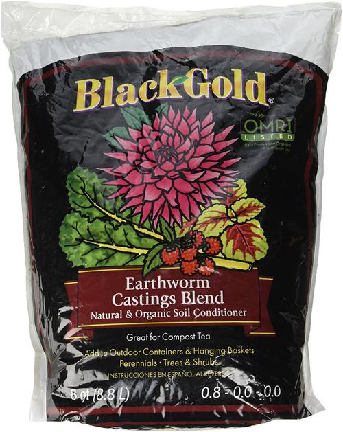 Black Gold Earthworm Castings, 8qt