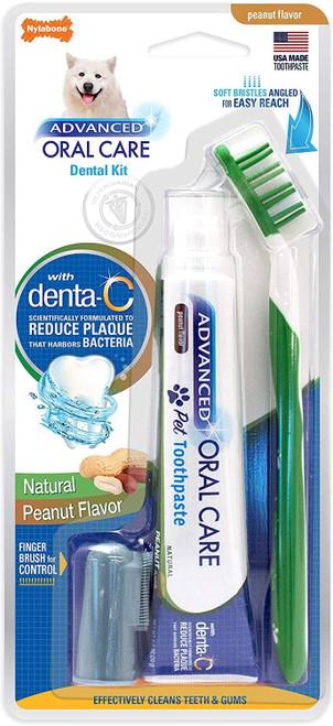 Nylabone Advanced Oral Care Natural Dog Dental Kit, 2.5oz
