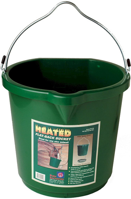 Heated Flat-Back Bucket w/Guard FB120, 5 gal