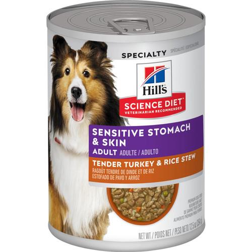 Science Diet Adult Sensitive Stomach & Skin Turkey, 12.5oz