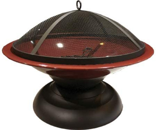 Harbor Gardens  Vesta Fire Bowl, Ox Blood Red