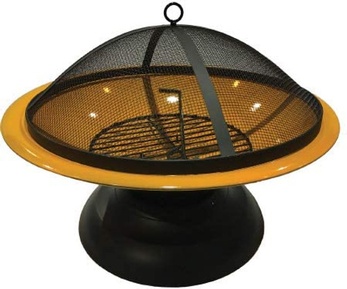 Harbor Gardens  Vesta Fire Bowl, Orange