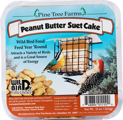 Pine Tree Farms Peanut Butter Suet Cake, 12oz