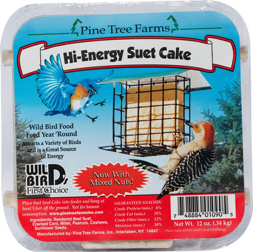 Pine Tree Farms Hi-Energy Suet Cake, 12oz