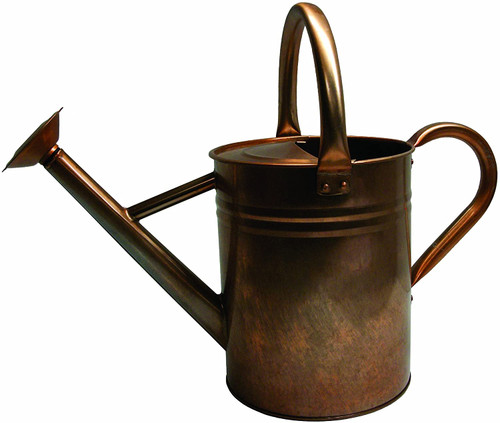 Gardman Antique Copper Finish Galvanized Steel Watering Can, 1.9-Gal
