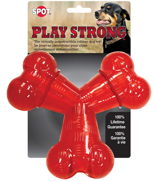 "Ethical Pet 6"" Play Strong Rubber ""Y"" Bone"