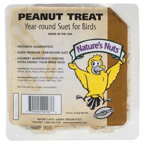 Nature's Nut Peanut Suet Treat, 11.5 oz