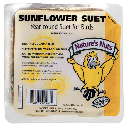 Nature's Nut Sunflower Suet Cake, 11.5 oz