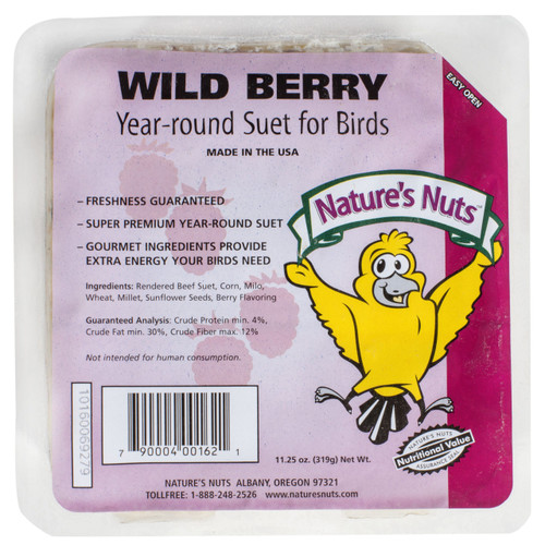 Nature's Nut Wild Berry Suet Cake, 11.5oz