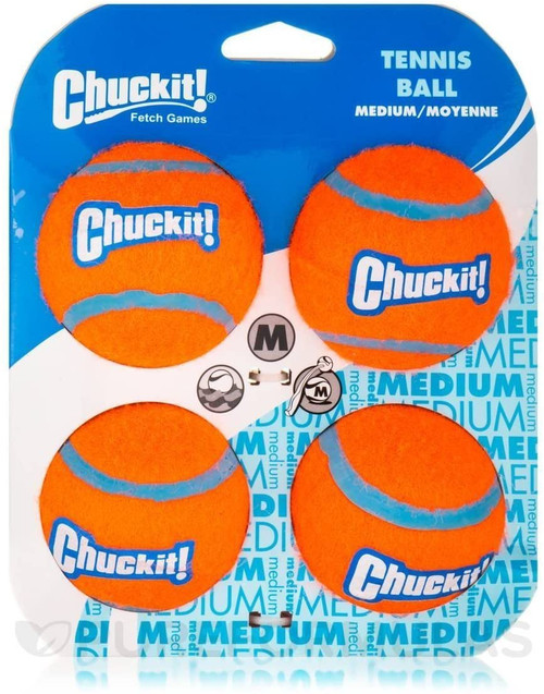 Chuckit Tennis Ball Medium, 4pk