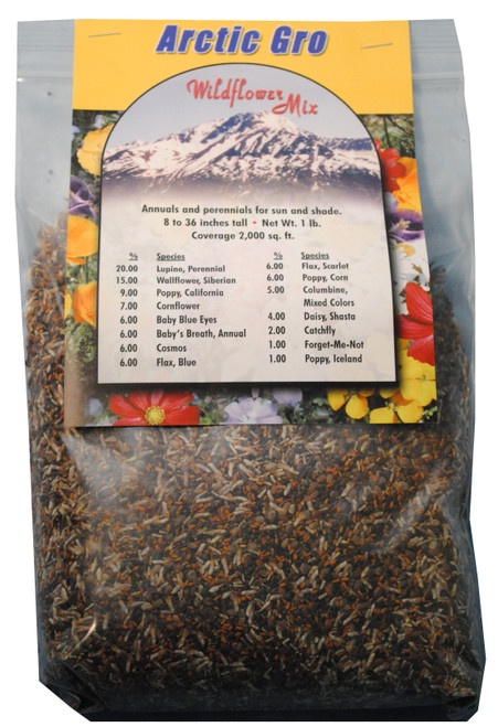 Arctic Gro Wildflower Mix Pure Seed, 1lb