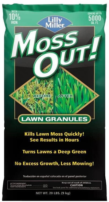 Lilly Miller Moss Out Lawn Granules, 20LB