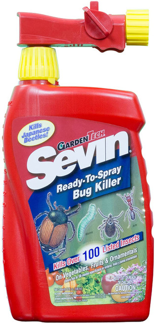 Sevin Bug Killer Multiple Insects Rtu Carbaryl , 32 Oz