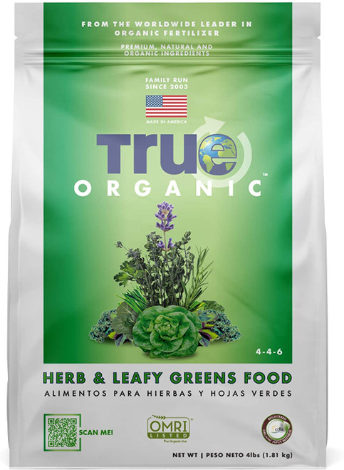 True Organic Herb & Leafy Greens Plant Food, 4lb