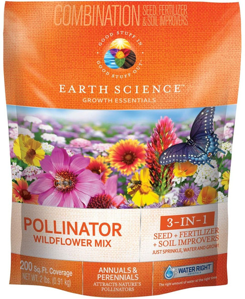 Earth Science Wildflower Pollinator Mix, 2lb