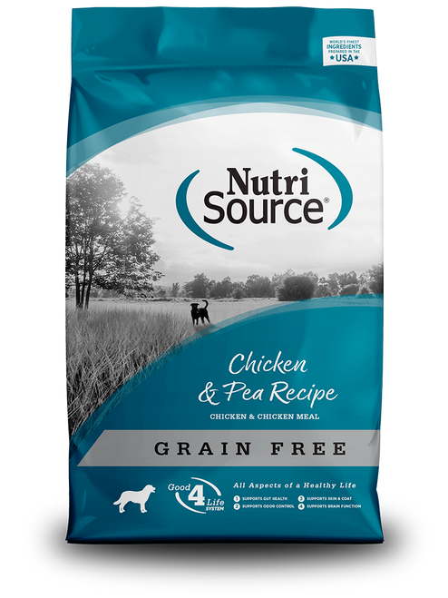 NutriSource Grain Free Chicken & Pea, 30lb