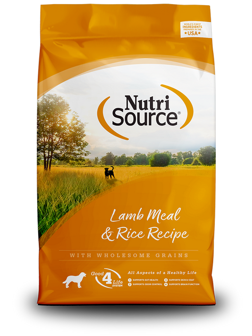 NutriSource Lamb & Rice Recipe, 30lb