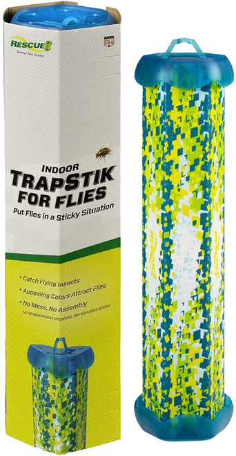 Rescue Non-Toxic TrapStik for Flies Indoor Hanging Fly Trap