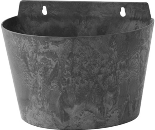 Novelty 9.5 inch Ella Wall Pot, Black