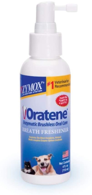 Zymox Oratene Brushless Oral Care Breath Freshener for Dogs and Cats, 4oz