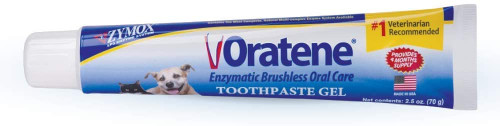 Zymox, Oratene Brushless Toothpaste Gel for Dogs and Cats, 2.5oz