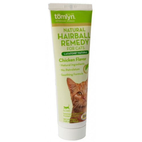 Tomlyn Laxatone Natural Hairball Remedy Gel for Cats Chicken
